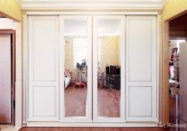 Двери мдф для шкафа купе белые эмаль