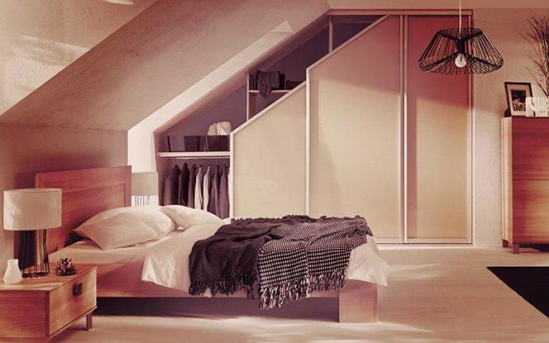 Шкаф купе в спальню без зеркала