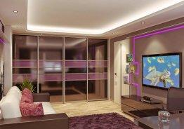 Комбинированные шкафы купе для гостиной
