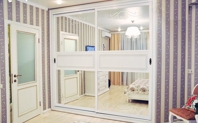 Шкаф купе белый 2 двери
