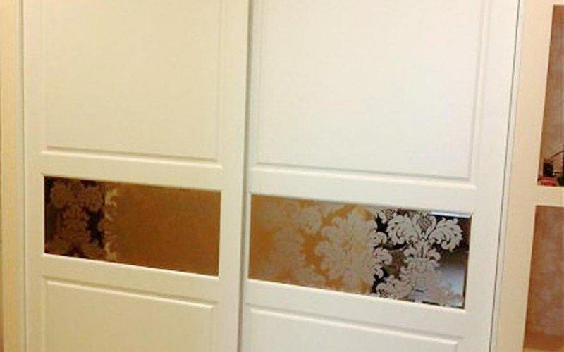 Шкаф купе зеркальный 2 двери белый