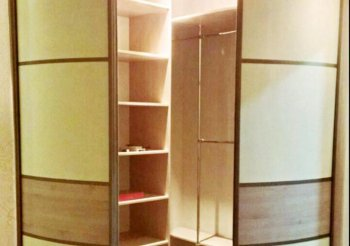 Радиусные двери купе для гардеробной