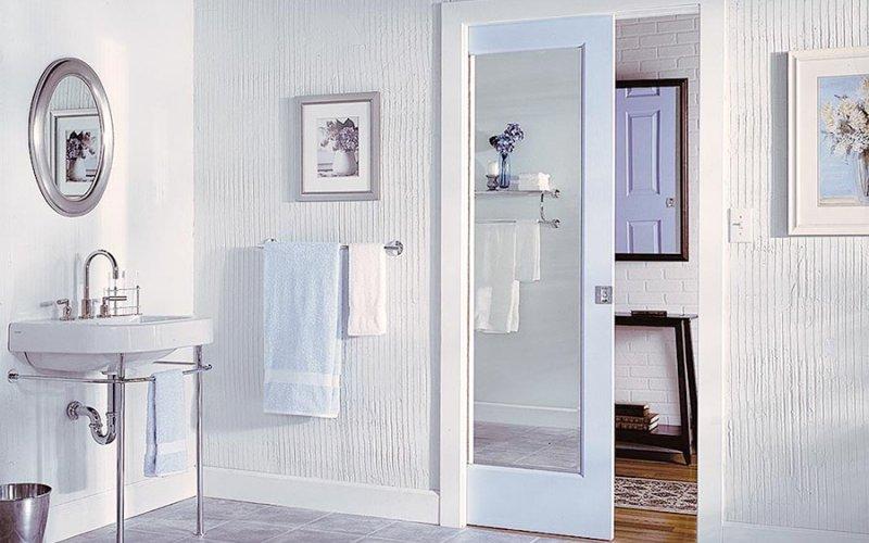 Дверь купе межкомнатная с зеркалом