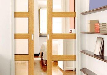 Межкомнатные двери купе в стену