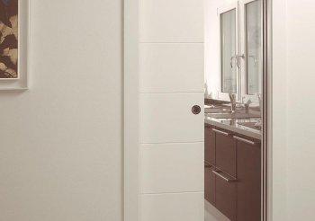 Встроенные межкомнатные двери купе в стену