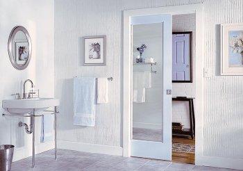 Зеркальные двери перегородки