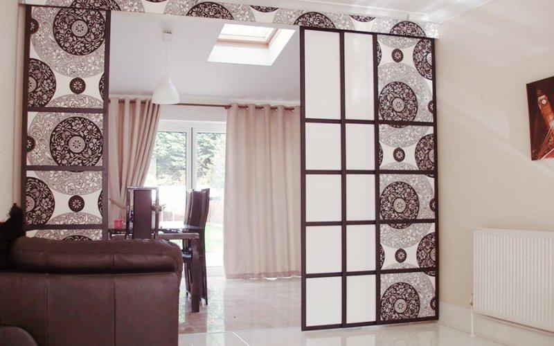 Легкие перегородки для зонирования пространства в комнате