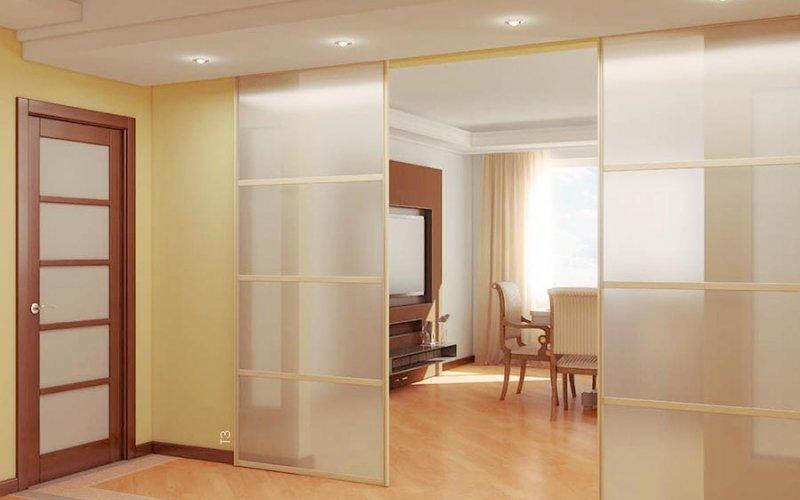 Перегородки для зонирования комнаты