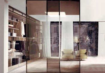 Перегородка для зонирования комнаты из стекла