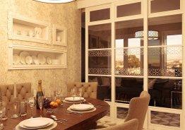 Раздвижные двери между кухней и комнатой