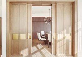 Раздвижные двери купе зонирование комнаты