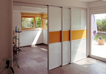 Раздвижные двери для зонирования комнаты
