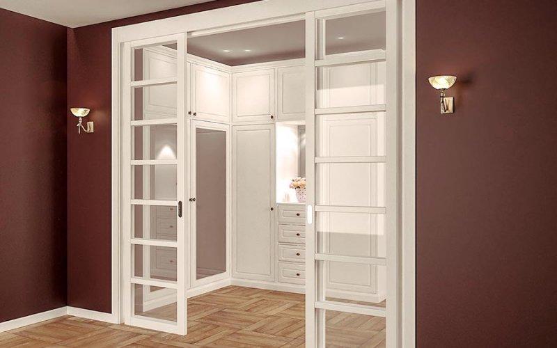 Встроенные раздвижные двери в нишу