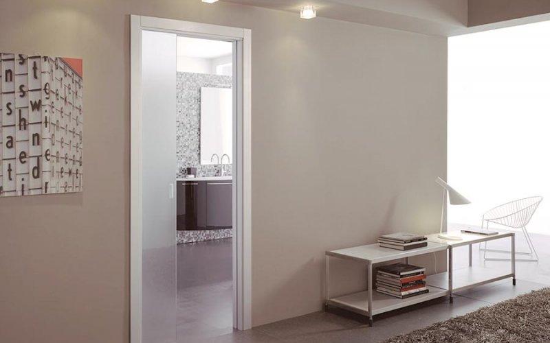 Одинарная межкомнатная раздвижная дверь
