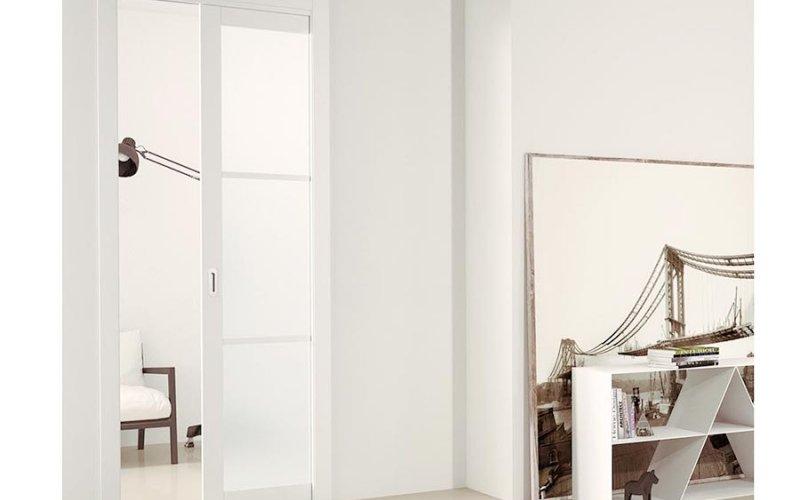 Раздвижные скрытые двери пенал