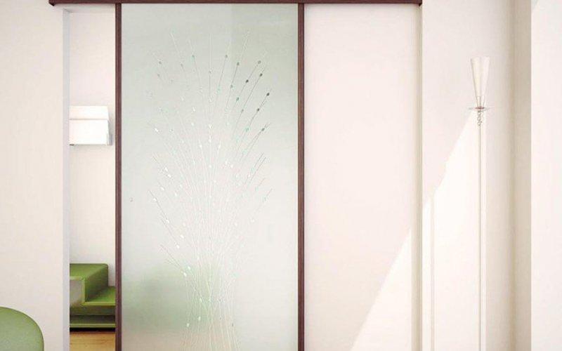 Раздвижные двери под натяжной потолок