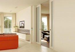Раздвижные двери межкомнатные крепление к потолку