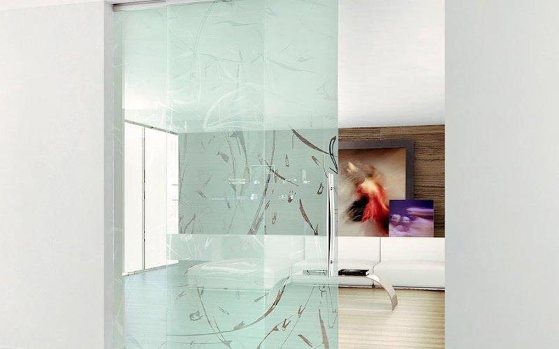 Раздвижные одностворчатые двери межкомнатные стеклянные